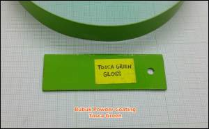 tosca green powder coating