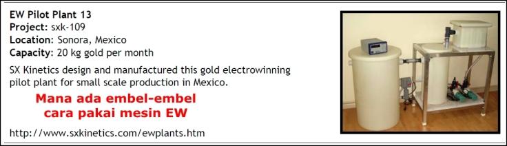 Iklan Mesin electrowinning tanpa pelatihan