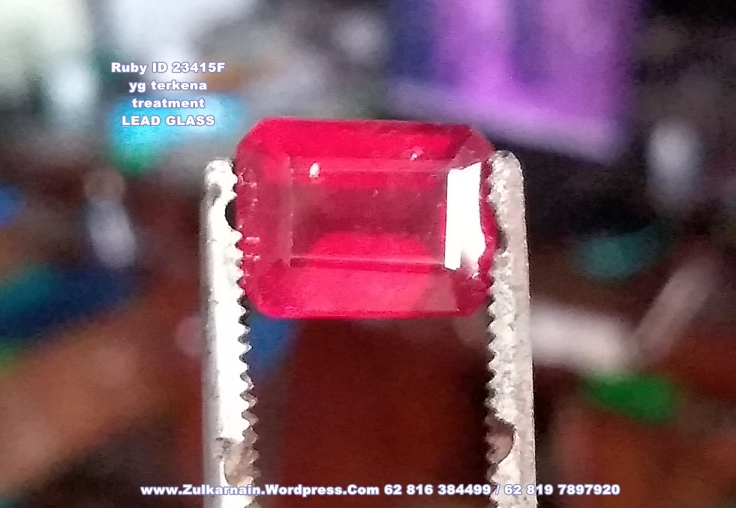 ID 23415 RUBY Glass Filled