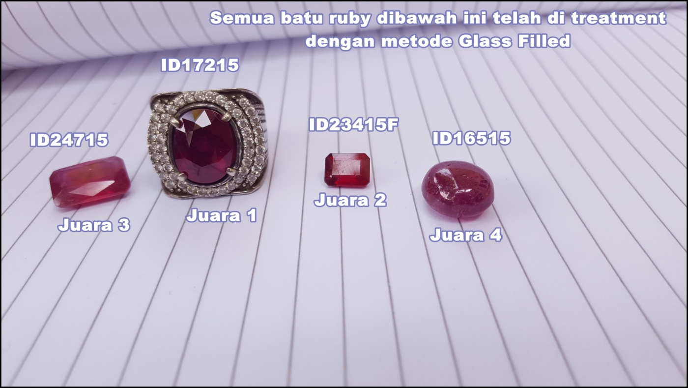 4 ruby Lead Glass